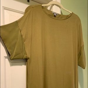 COS size Medium green cotton pullover dress